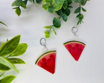Skull watermelon earrings
