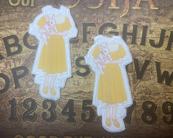 Paper doll cloth sew on patch , headless , Halloween