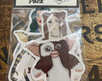 Gizmo and gremlin sticker pack of 4