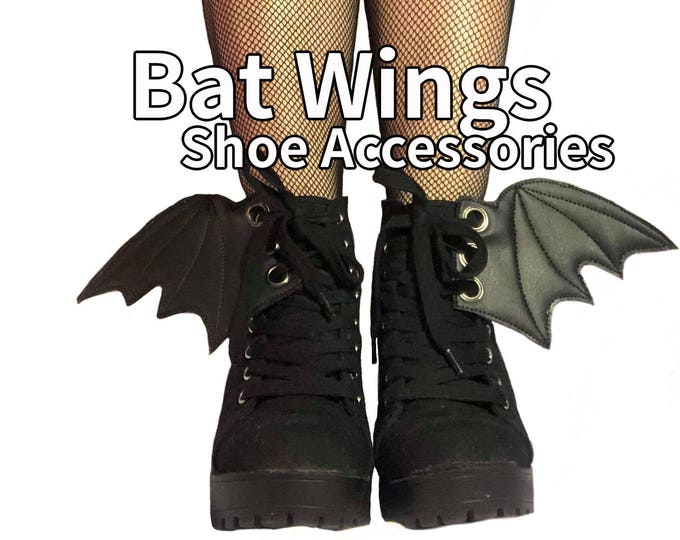 Featured listing image: Bat wing add on shoe accessories