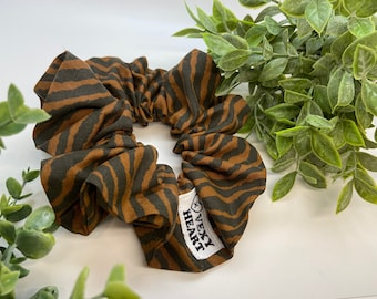 Tiger king  up-cycled XL Scrunchie