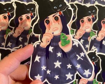 Coraline witch sticker , Tim burton, button eyes , horror scary movie, Ouija , Halloween , Weatherproof