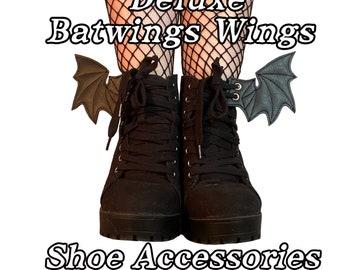 Deluxe bat wings shoe accessories