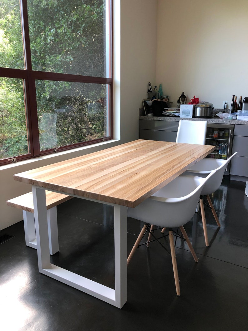 Pleasant New Natural Wood Dining Table And Bench Live Edge Handmade Download Free Architecture Designs Rallybritishbridgeorg