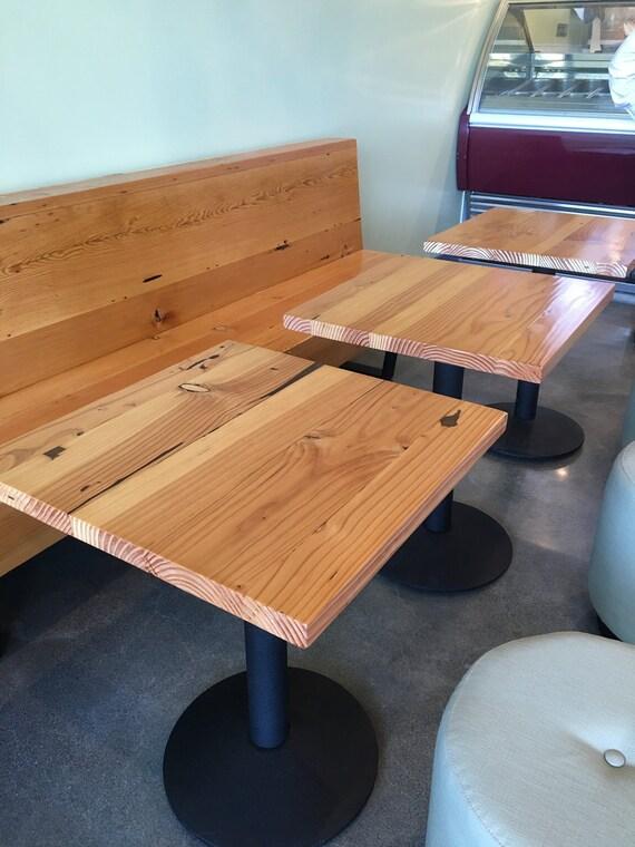 Modern Urban Reclaimed Wood Douglas Fir Table, Reclaimed Wood Restaurant  Table with natural wood top.