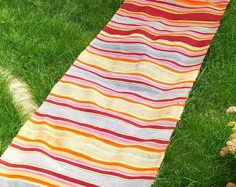 Handmade Rug Striped Runner rug Multicolour Runner Rug Rainbow handwoven rugs Ukrainian Rustic decor