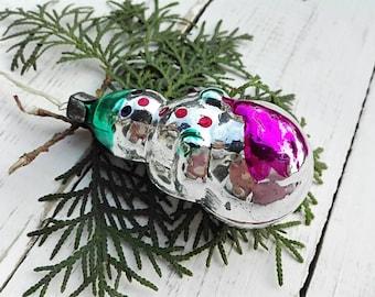 Сhristmas snowman Сhristmas gifts Tree decoration Vintage Soviet christmas Glass ornaments Christmas ornament Snow Christmas decor