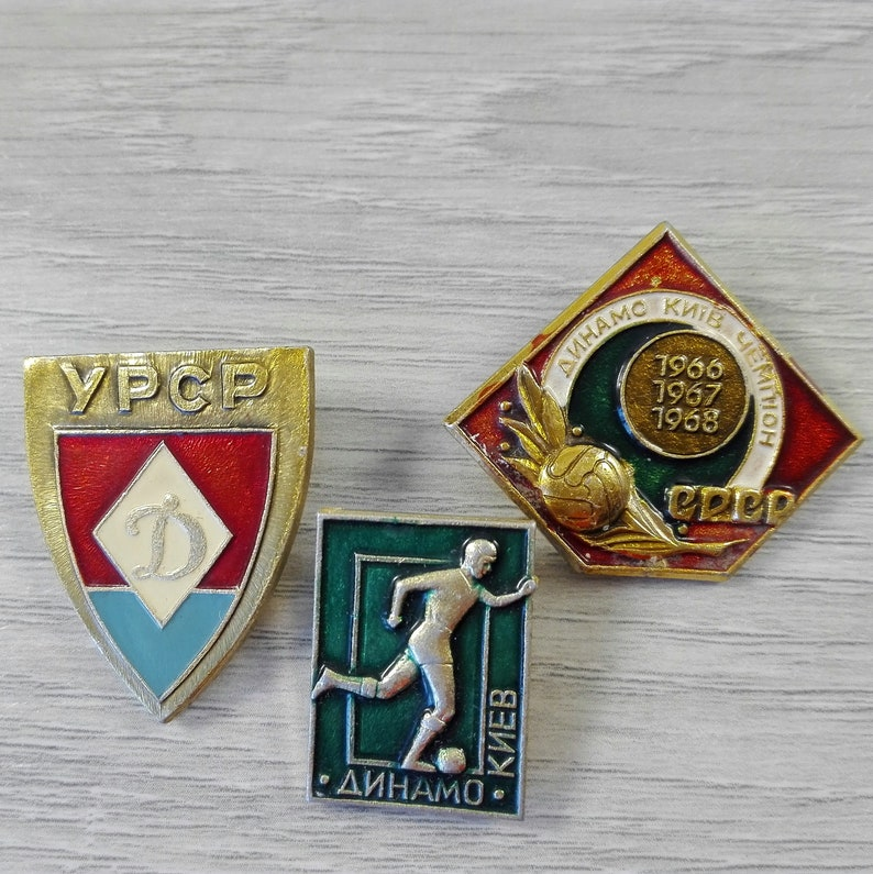USSR Football World Cup/ Set of 3 pin badges DYNAMO KIEV