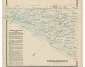 Charlestown, PA Witmer 1873 Map Reproduction