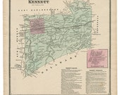 Kennett, PA Witmer 1873 Map Reproduction