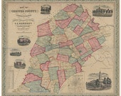 Chester County, PA 1856 R...