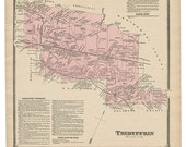 Tredyffrin, PA Witmer 1873 Map Reproduction