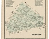 Sadsbury,  PA Witmer 1873 Map Reproduction
