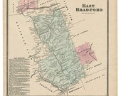 East Bradford, PA Witmer 1873 Map Reproduction