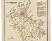 Schuylkill, PA Witmer 1873 Map Reproduction