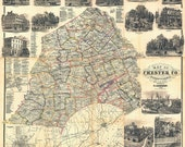Chester County, PA 1860 R...