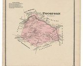 Pocopson, PA Witmer 1873 Map Reproduction