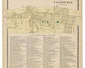 Coatesville, PA Witmer Map Reproduction