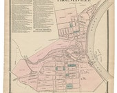 Phoenixville, PA Witmer 1873 Map Reproduction