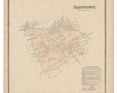 Easttown, PA Witmer 1873 Map Reproduction