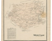 West Caln, PA Witmer 1873 Map Reproduction