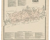 Caln,  PA Witmer 1873 Map Reproduction
