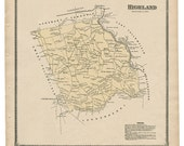Highland,  PA Witmer 1873 Map Reproduction