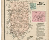 New Garden, PA Witmer 1873 Map Reproduction
