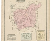 Londonderry, Jennerville and Penn Station PA Witmer 1873 Map Reproduction