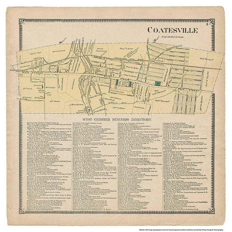 Coatesville PA Witmer Map Reproduction image 0