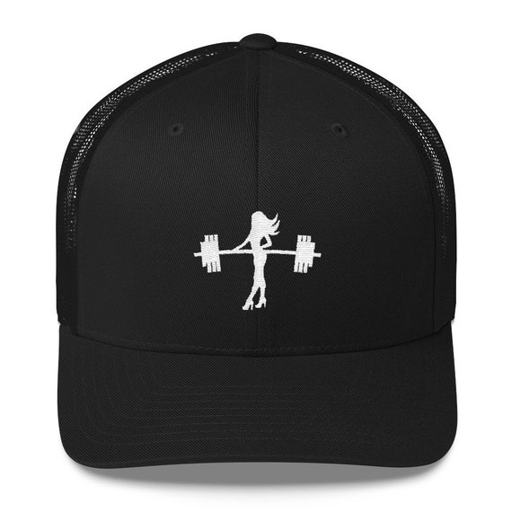 Fitness Trucker Hat Embroidered Gym Hat Dainty Workout Hat  f976ccd9ce4