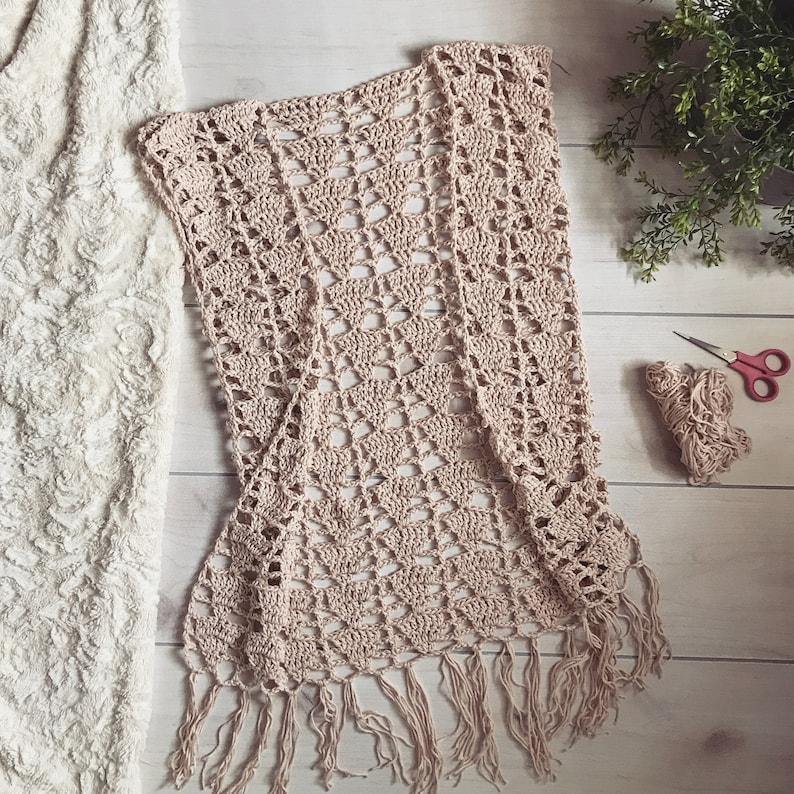 Crochet Pattern The Wanderlust Vest Spring Etsy