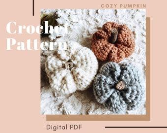 """Crochet Pattern // """"Cozy Pumpkin""""  // Crochet pumpkin pattern, cozy, Cozymoondesigns"""