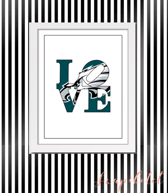 Philadelphia Eagles Love Park Sign Symbol Sculpture Philly Etsy