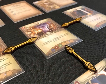 Fan Made - Arkham Horror LCG Premium Path Marker (Qty 15) Arrows - Double/Single Sided - 100% Unofficial