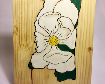 Magnolia Mississippi Pyrography-Painting