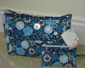Blue floral Print Tote