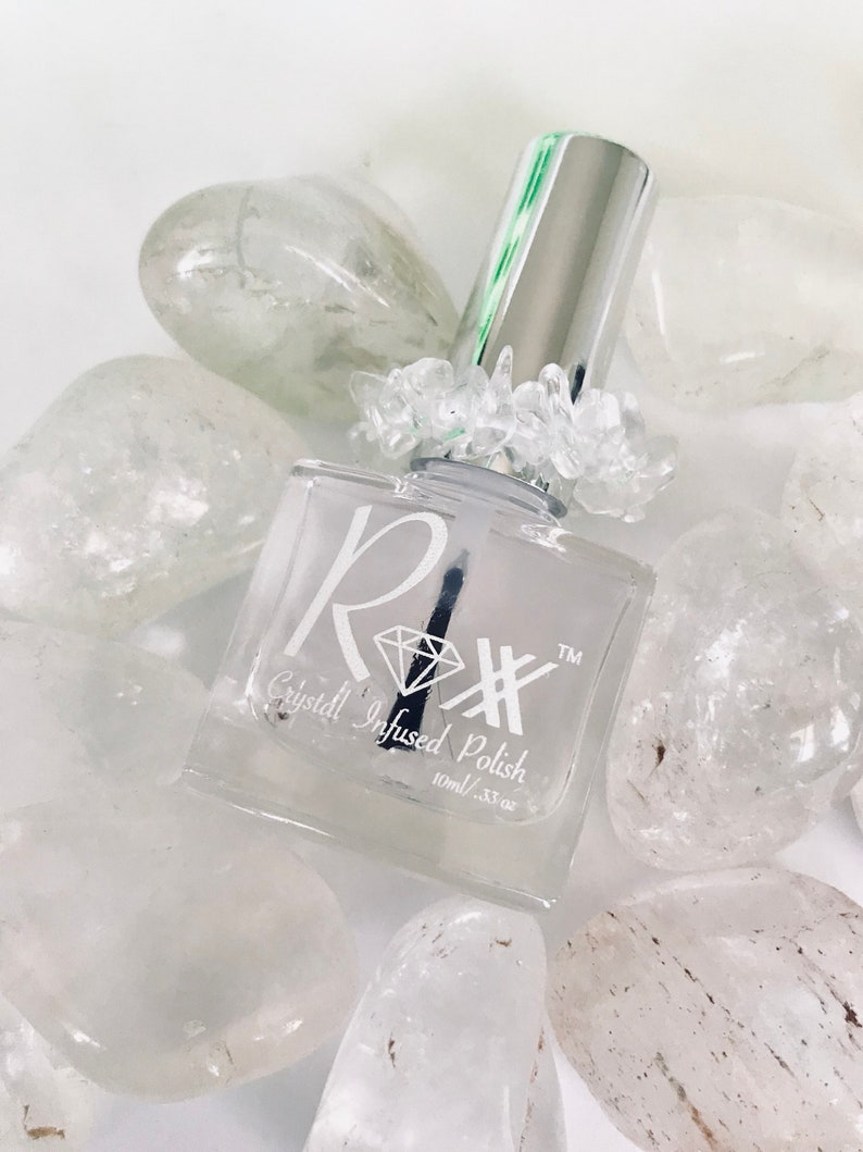 Clear Quartz Crystal Infused Finishing Gel Top Coat-Trust Your image 0