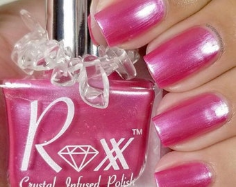 Pink Tourmaline Crystal Infused Nail Polish - Choose Happiness. Cruelty Free, Non-Toxic, Vegan, Metaphysical