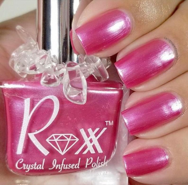 Pink Tourmaline Crystal Infused Nail Polish  Choose image 0