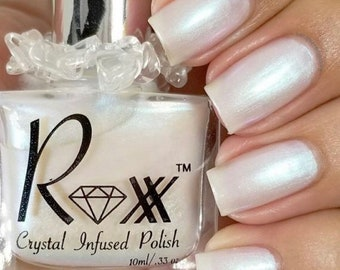 Moonstone Crystal Infused Nail Polish-New Beginnings. Toxic-Free, Cruelty Free, Metaphysical Beauty, Crystal Energy