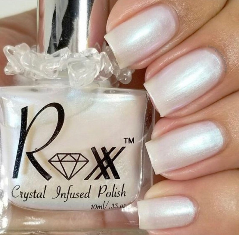 Moonstone Crystal Infused Nail Polish-Find The Clarity. image 0