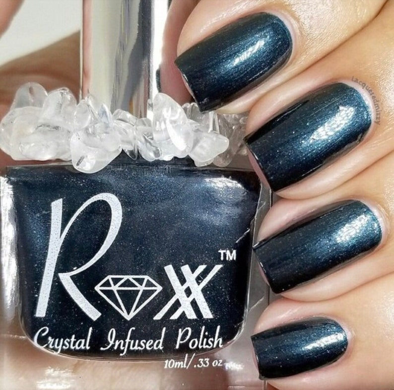 Sodalite Crystal Infused Nail Polish-Speak Your Truth. Cruelty image 0