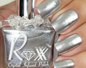 Hematite Crystal Infused Nail Polish-Find The Balance. Toxic-Free, Cruelty Free, Metaphysical Beauty, Crystal Energy