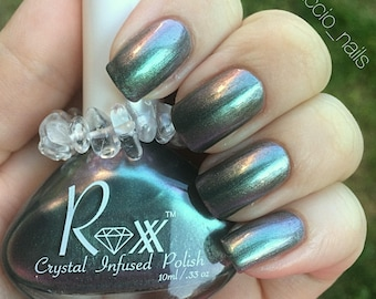 Labradorite - You can do Anything & Everything! Self-Confidence  - Crystal Infused Nail Polish - Vegan - Toxic Free