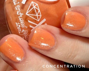 Carnelian - Crystal Infused Nail Polish -  Concentration. Toxic-Free, Cruelty Free, Metaphysical Beauty, Crystal Energy