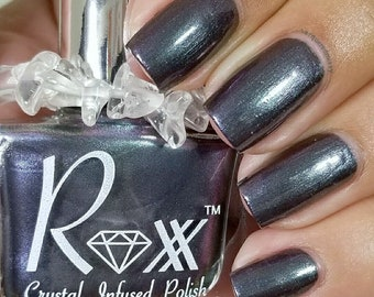 Labradorite Crystal Infused Nail Polish - Discover Yourself. Toxic-Free, Cruelty Free, Metaphysical Beauty, Crystal Energy