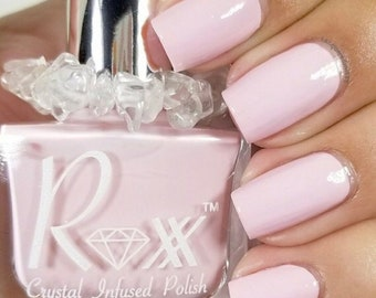 Rose Quartz Crystal Infused Nail Polish-Gotta Love and Forgive. Toxic-Free, Cruelty Free, Metaphysical Beauty, Crystal Energy