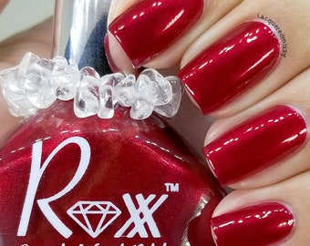 Garnet Polish - Law of Attraction - Just Ask - Unique Nail Polish - Crystal Infused - Non-Toxic Polish - Crystal Energy