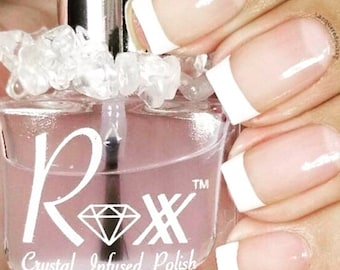 Clear Quartz Crystal Infused Base And Top Coat-Trust Your Gut. The Intuition Collection- Toxic-Free, Cruelty Free, Metaphysical Beauty